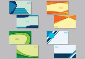 Set Van Namecard Sjablonen vector