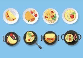 Omelet Vector Set Illustratie