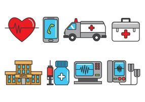 CPR-iconen vector