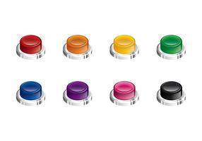 Arcade Button Isometrische Vector