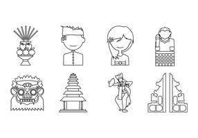 Gratis Bali Icon Vector