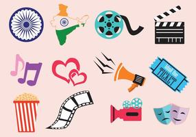 Bollywood film icoon vector