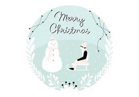 Kerstmis groetillustratie