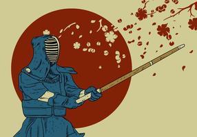 Kendo master vector