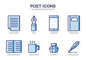 Dichterpictogrammen vector
