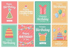 Gratis Uitnodigingsvector van de Sjabloon van de Verjaardagspartij vector
