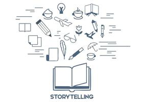Gratis Storytelling Vector Illustratie