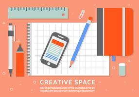 Free Business Workspace Vector Achtergrond