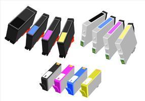 Inktcartridge Gratis Vector