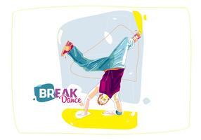 De Colorful Break Dance vector