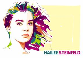 Hailee Steinfeld in Popart Portret vector