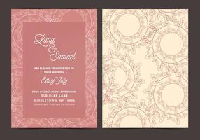Vector Bruiloft Uitnodiging