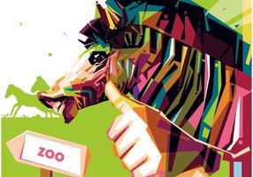 Zoo Zebra Portret Vector