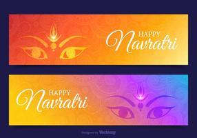 Gratis Happy Navratri Vector Banners