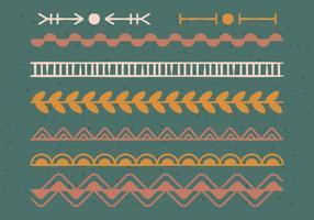 Doodle Decoration Elementen vector