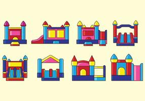 Set Van Bounce Huis Pictogrammen