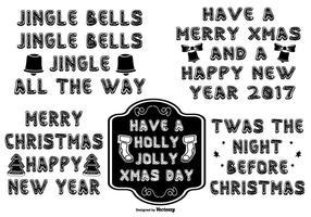 Leuke Hand Getekende Stijl Christmas Lettering