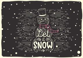 Gratis Kerst Vector Sneeuwpop Illustratie