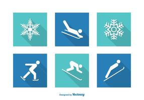 Gratis Vector Wintersport Pictogrammen