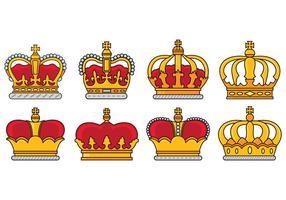 Set Van Britse Kroon Pictogrammen vector