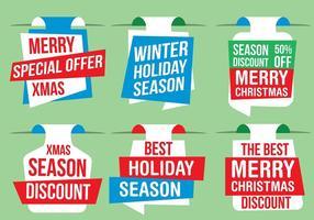 Gratis Vector Kerst Labels
