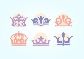 Britse Kroon Vector Set