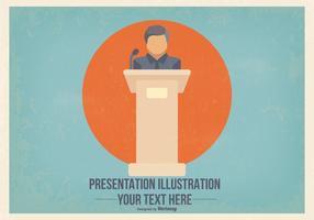 Flat Presentatie Illustratie