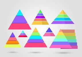 Gratis Piramide Infographic Vector