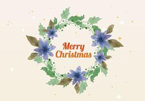 Gratis Christmas Watercolor Wreath Vector