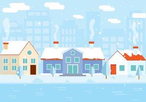 Gratis Vector Wintergebouw