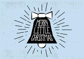 Gratis Vintage Handgetekende Kerstkaart Achtergrond vector