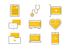Gezondheidszorg Service Pictogrammen
