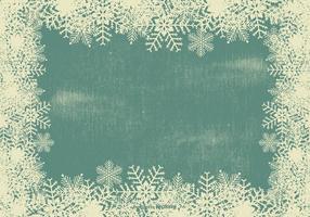 Grunge Sneeuwvlok Frame Achtergrond vector