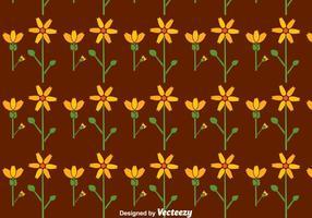 Platte Calendula Bloemen Naadloos Patroon