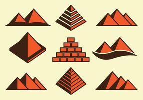 Piramide Pictogrammen vector