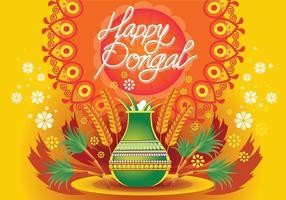 Vectorillustratie van Happy Pongal Celebration Background