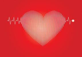 Flatline Heart Beat Illustratie vector
