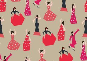 Flamencas danser vector