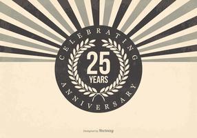 Retro 25-jarig bestaan illustratie vector
