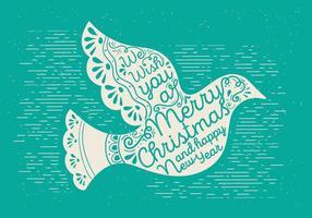 Gratis Kerst Vector Duif