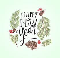 Gelukkig Nieuwjaar Lettering vector