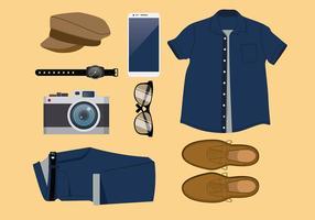 Blauwe Jeans Set Gratis Vector