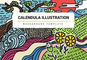 Gratis Calendula Vector Illustratie