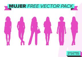 Mujer gratis vector pakket