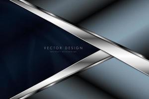metallic blauw en zilver hoekpanelen ontwerp