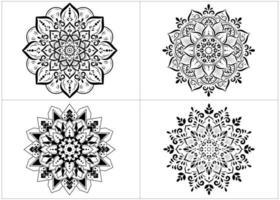 set van ronde mandala's geïsoleerd op wit vector