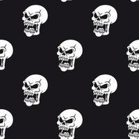 boos schedel gezicht patroon