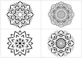 set van zwart-wit mandala's geïsoleerd op wit vector