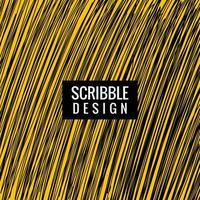hand getrokken Krabbel lijnen textuur op gele achtergrond