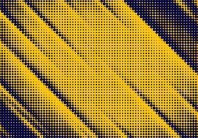 gele en donkerblauwe hoekige halftone textuur